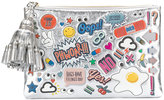 Anya Hindmarch Stickers pouch - women - Patent Leather - One Size