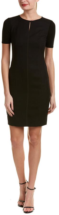 Elie Tahari Wool-Blend Sheath Dress
