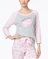 Jenni by Jennifer Moore Baseball Pajama Top, Only at Macy's