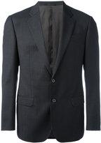 Armani Collezioni checked one button blazer - men - Virgin Wool/Viscose - 46