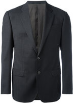 Armani Collezioni checked one button blazer