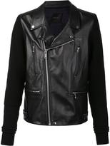 Undercover zipped jacket - men - Leather/Wool - 4