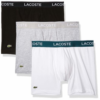 Lacoste Men's Casual Classic 3 Pack Cotton Stretch Boxer Briefs