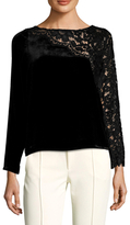 Tracy Reese Lace Paneled Top