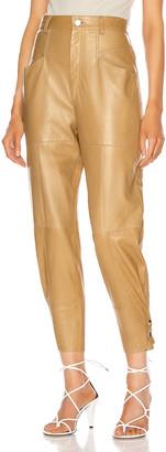 Isabel Marant Xiamao Leather Pant in Bronze | FWRD