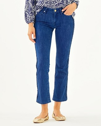 """Lilly Pulitzer 28.5"""" South Ocean Crop Flare Pant"""