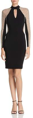 Avery G Embellished Choker Dress