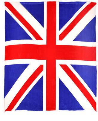 Sleeping Partners Union Jack Flag Fleece Throw Blanket Bedding