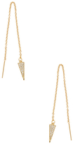 Rebecca Minkoff Pave Triangle Linear Earrings