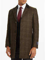 John Lewis Bottle Check Covert Coat, Green