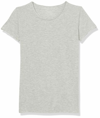 Majestic Filatures Women's Fitted Short Sleeve Crew Raw Edge