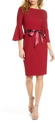 Chi Chi London Louanna Satin Tie Cocktail Dress