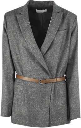 Fabiana Filippi Grey Virgin Wool And Silk Blazer