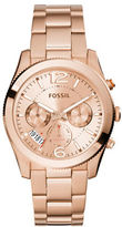 Fossil Perfect Boyfriend Rose Goldtone Stainless Steel Bracelet Watch, ES3885