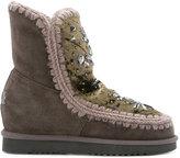 Mou rhinestone embellished eskimo boots