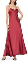 BCBGMAXAZRIA Open-Back Satin Slip Dress