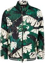 Moncler Lamy Leaf-print Shell Bomber Jacket