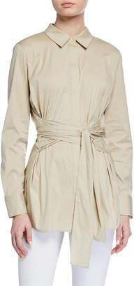 Lafayette 148 New York Cordelia Long-Sleeve Sash-Tie Blouse