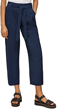 Whistles Belted Casual Cropped Trousers