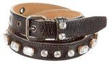 Miu Miu Jewel-Embellished Leather Belt
