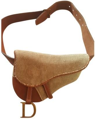Christian Dior Khaki Cloth Clutch bags