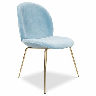 Amalfi by Rangoni ModShop Upholstered Dining Chair ModShop Upholstery Color: Capri Blue