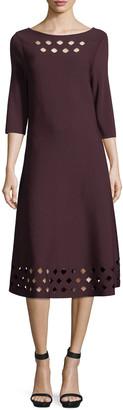 Nic+Zoe Petite Time Out Twirl 3/4-Sleeve Cutout Dress