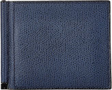 Valextra Men's Money Clip Billfold-NAVY