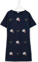 Little Marc Jacobs popcorn T-shirt dress - kids - Cotton/Polyamide/Spandex/Elastane/Modal - 14 yrs