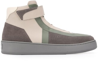 A-Cold-Wall* Contrast-Panel High-Top Trainers