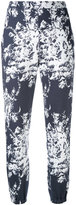 Sonia Rykiel printed high waisted trousers - women - Cotton - XS