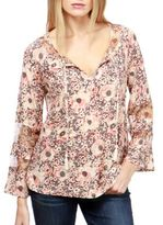Lucky Brand Tasseled Long-Sleeve Blouse