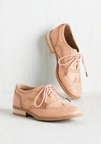 ModCloth Talking Picture Flat in Blush in 6.5