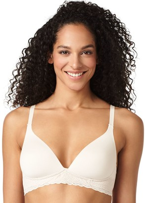 Warner's Cloud 9 Wire Free Lace Band Contour Bra RO5691A