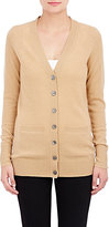 Barneys New York WOMEN'S CASHMERE V-NECK CARDIGAN-TAN SIZE S