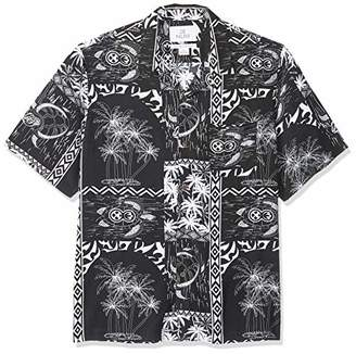28 Palms Relaxed-fit Vintage Washed 100% Rayon Hawaiian Shirt Button,(EU S)