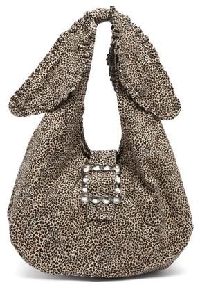 Shrimps Ellery Leopard-print Canvas Shoulder Bag - Leopard