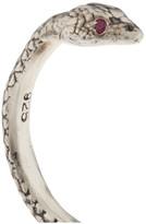 Pamela Love Serpent silver ruby ring