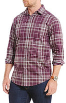 Hart Schaffner Marx Poplin Plaid Long-Sleeve Spread Collar Sportshirt