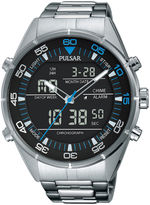 Pulsar Mens Black Analog/Digital Chronograph Watch