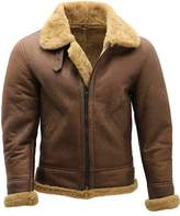 Infinity Men's B3 Shearling Sheepskin WW 2 Bomber Leather Flying Aviator Jacket 2XL
