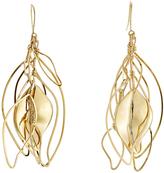 Aurelie Bidermann Gold-Plated Leaf Earrings