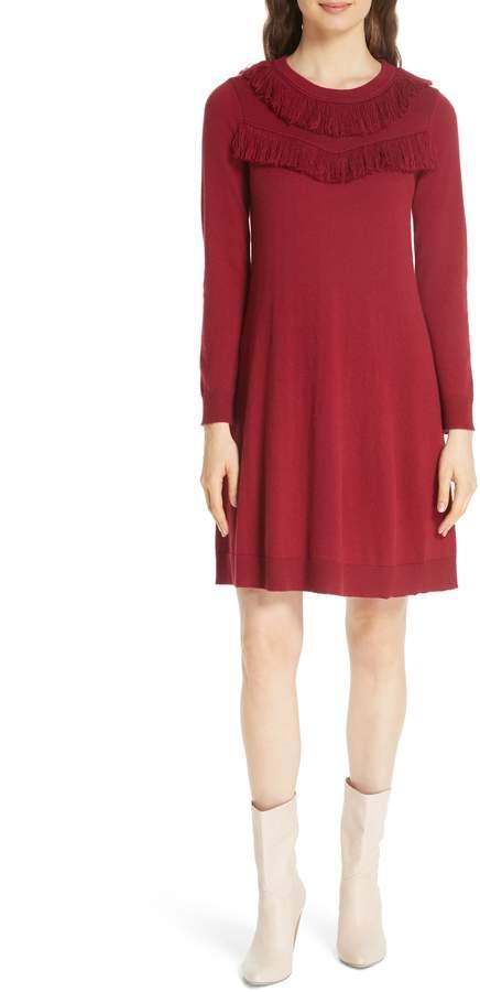 Kate Spade fringe sweater dress