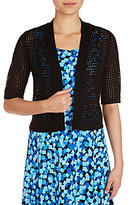 Allison Daley Open Front Short Sleeve Cardigan