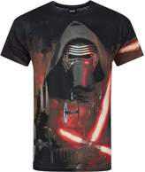 Star Wars Official Force Awakens Kylo Ren Lightsabre Sublimation Men's T-Shirt (M)