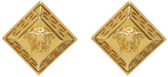 Versace SSENSE Exclusive Gold Rhombus Stud Earrings