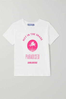 Paradised Kids - Neon Printed Cotton-jersey T-shirt - White