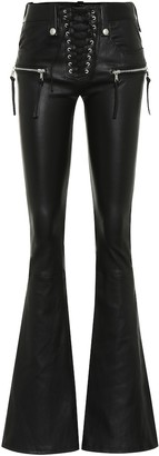 Unravel Leather flared pants