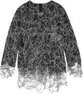 ADAM by Adam Lippes Felted lace sweater