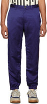 Gucci Blue Satin Solarized Trousers